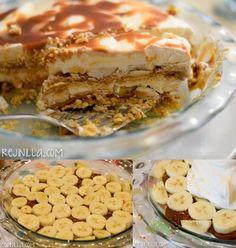Pastel de plátano y dulce de leche