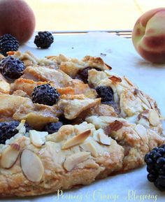 Blackberry and Peach Galette with Cinnamon Ice Cream Recipe