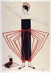Aleksandra Ekster costume design for a female character in 'Aelita: Queen of Mars'. Graphic Design Illustration, Illustration Art, Russian Constructivism, Art Deco Paintings, Guache, Russian Art, Fantastic Art, Art World, Constructivism