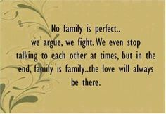 No family is perfect, but...