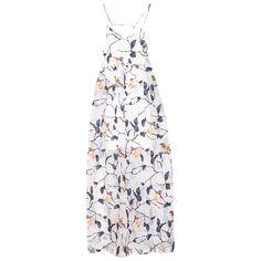 MSGM Birds Print Maxi Dress | Womens Dresses