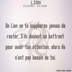 #lion #astro #Astrologie #zodiaque #citation Pisces Zodiac, Zodiac Signs, Citation Lion, Signe Astro Lion, Leadership, Karma, Leo, Messages, Motivation