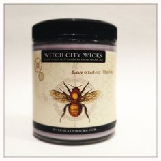 Midnight lavender honey scented soy candle by WitchCityWicks, $13.50