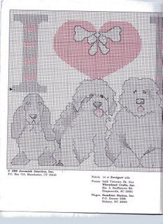 Schematic cross stitch Love Dog 06