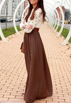 Love this. I have so many maxis and no great SF place to wear them. Now I will. :) Work Outfit cute #lily25789 #WorkOutfit #Work #Outfit #nicefashion #casualoutfitforwomen  www.2dayslook.com