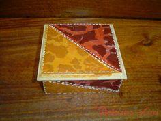 Caja artesanal pequena, imitacion cuero