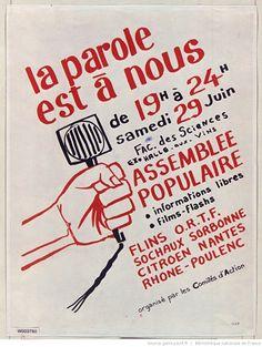 [Mai 1968]. La Parole est à vous de 19h à 24h samedi 29 Juin..., Faculté des sciences : [affiche] / [non identifié]