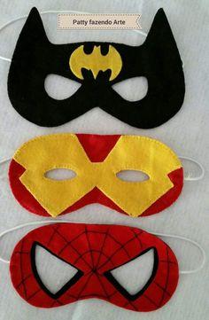 Máscaras de super heróis para um estúdio fotográfico!