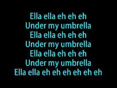umbrella rihanna lyrics - YouTube