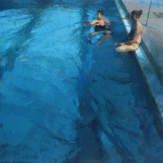"""Jose Luis Ceña. """"piscina para dos"""" I find the water treatment so wonderfully understated, no glints, no obvious reflections, just great observation of refractive volume."""