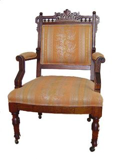 Eastlake Chair A Weakness For Odd Chairs! Chaise Sofa, Sofa Chair, Victorian  Furniture