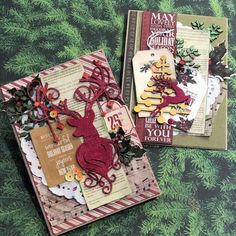 2 Crafty Chipboard : Christmas Cards with Kripa Koushik Create Christmas Cards, Christmas Themes, Forever Yours, Chipboard, Beautiful Christmas, Paper Crafts, Seasons, Crafty, Happy