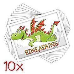Einladungskarte Drachen Kindergeburtstag