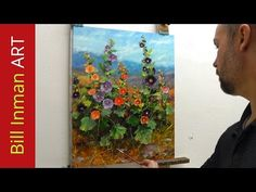Learn to Paint Daisies Wildflowers & Marigolds Oil Painting Demo Fast Motion by Bill Inman - YouTube