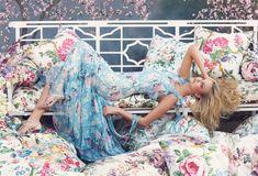 """Fantasy Blooms"" | Model: Caroline Trentini, Photographer: Steven Meisel, Vogue Australia, July 2008"