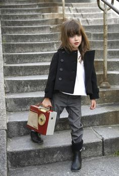She's already more stylish than most adults. | Click to shop the chicest kids threads.