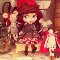 .@dollytreasures | Gentle River and her little friends. #blythe #doll #lesnereides #maileg mouse... | Webstagram - the best Instagram viewer