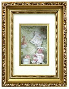Dollhouse Miniature Frame Girl and Cat Mural Wall Painting Picture Decor LE