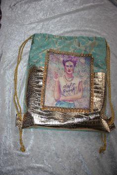Backpack+-+Gymbag+-+Frida+Kahlo+-+Rucksack+von+The+House+of+Gabriele+Mast+auf+DaWanda.com