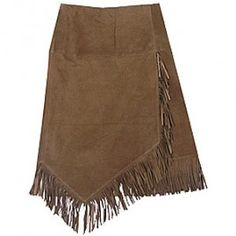 We saw this skirt all over Houston's Cattle Baron's Ball last weekend! Genuine Italian leather with asymmetrical fringe - a classic western style.