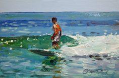 goal=to stand up Bradford Cool Photo Effects, Hawaiian Art, Sand Art, Seascape Paintings, Boy Art, Art Themes, Beach Art, Beautiful Paintings, Art Lessons