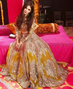 MAHTAAB Bridal couture 2018 Being your wife makes me feel content and complete. This contentment is like a morning light in my life which… Pakistani Fashion Party Wear, Pakistani Wedding Outfits, Indian Bridal Outfits, Indian Bridal Fashion, Pakistani Dress Design, Pakistani Dresses, Mehendi Outfits, Asian Fashion, Bridal Mehndi Dresses