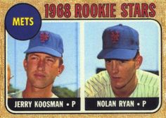 REPRINT: 1968 Topps #177 Nolan Ryan Rookie Card, Mets, Strikeouts, RC (Please Read)