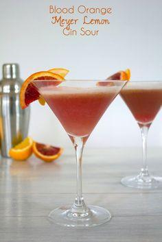 Blood Orange Meyer Lemon Gin Sour @FoodBlogs