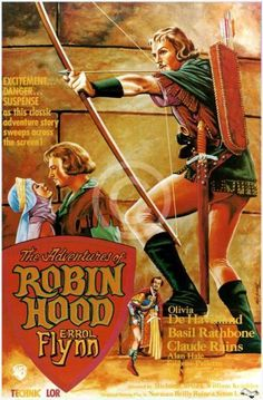 The Adventures of Robin Hood is a 1938 American swashbuckler film directed by Michael Curtiz and William Keighley, and starring Errol Flynn, Olivia de Havilland, Basil Rathbone, and Claude Rains. Written by Norman Reilly Raine and Seton I. Miller, the film is about a Saxon lord who, in King Richard's absence, fights back as the outlaw leader of a rebel guerrilla army against Prince John and the Norman Lords who are oppressing the Saxon people....