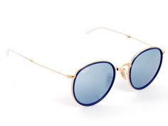 f2547491af6 Ray Ban 3517 Gold Frame -Blue Lenses 48 mm 100 % New   Authentic