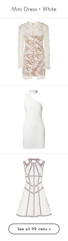 """""""Mini Dress • White"""" by cheraim ❤ liked on Polyvore featuring dresses, white, floral dresses, short dresses, see through dress, white floral dress, mini dress, cocktail dresses, white cocktail dress and short cocktail dresses"""