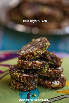 Date Dryfruit Barfi Recipe (use coconut oil and shredded coconut)