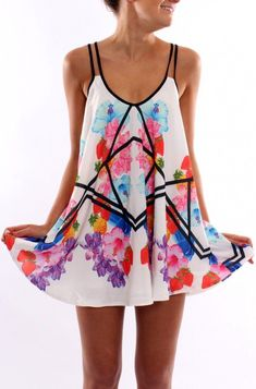 #street #style summer flower print dress @wachabuy