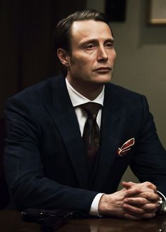 "Mads Mikkelsen as ""Hannibal Lecter"" Hannibal Suit, Nbc Hannibal, Hannibal Lecter Series, Hugh Dancy, Mads Mikkelsen, Beautiful Men, Michael Fassbender, People, Actors"