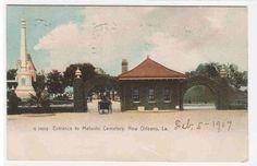Metairie Cemetery Entrance New Orleans Louisiana 1907 Rotograph postcard   eBay