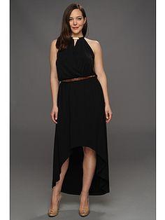 Michael Kors Plus Size MJ Halter Elip Hem Dress