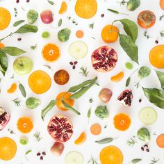 Pomegranate, persimmon, Brussels sprout, apple, sage, rosemary, sweet potato, satsuma, leek, and thyme food collage---Unframed print created with archival pigment inks on museum-quality Museo MAX 365 gsm paper with a matte finish---Custom sizing is available. Please contact julie@julieskitchen.me for details