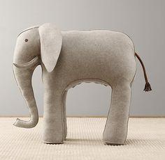 Oversized Wool Felt Elephant | Accessories | Restoration Hardware Baby & Child