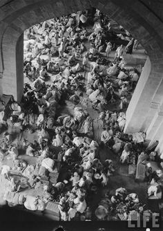 Refugee Camp in Pakistan,at the time of the population were refugees from India,burdening a very weak evonomy.People thought Pakistan will fail,still standing today,Alhamdulillah.