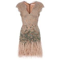 MATTHEW WILLIAMSON Feathered detail dress ($6,030) found on Polyvore