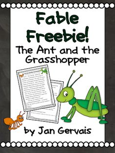 """Included: A version of the fable """"The Ant and the Grasshopper"""" and a vocabulary anticipation guide to go along with it. Please leave me some feedback! This freebie is part of my """"Emergency Sub Plans for Grade"""". 2nd Grade Ela, 2nd Grade Reading, Third Grade, Grade 3, Fourth Grade, Fairy Tale Activities, Reading Activities, Teaching Reading"""