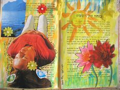 Summer Art Journal page