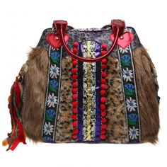 granny sack, Tyrolean, heart, trim, animal fur £99