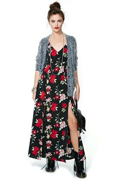 After Party Vintage Night Bloom Dress --- love the cardigan with this!