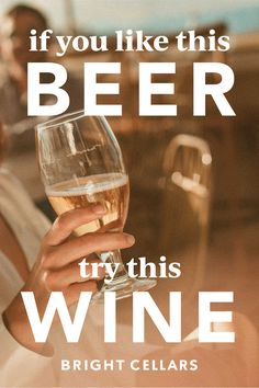 Are you a beer lover looking to try wine? Look no further! Use this guide to find the PERFECT wine for you based on the beer you love. Bright Cellars, Beer Pairing, Wine Guide, Wine And Beer, Beer Lovers, Wine Tasting, White Wine, Wines, Wine Glass