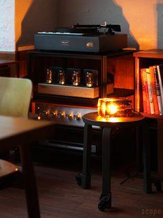 Block Lamp by Harri Koskinen for Design House Stockholm. Vinyl Room, Audio Room, Hifi Audio, Vacuum Tube, Audio System, Audiophile, Lamp Design, Stockholm, Liquor Cabinet