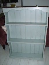 Vintage painted solid pine shelves, chabby chic