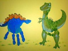 Art company Thumpkin and Friends create original pieces of art based upon your child's hand or foot print.  Here is some great hand print art inspiration  including angels, dinosaurs, superheros, and princesses!