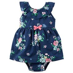 Baby Girl Carters Floral Bodysuit Dress - Baby Girl Dress - Ideas of Baby Girl Dress - ღ. ƁҽႦҽ ღ . Bodysuit Dress, Floral Bodysuit, Baby Bodysuit, Carters Baby Girl, My Baby Girl, Baby Girls, Toddler Girls, Baby Baby, Baby Girl Skirts