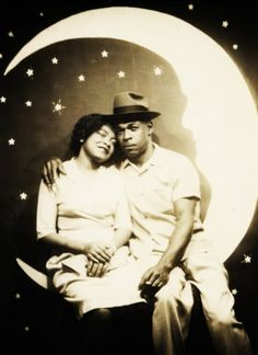 Couple on Paper Moon